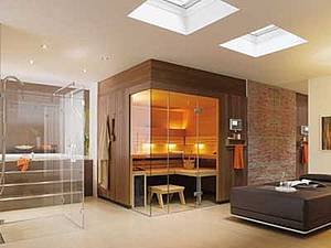 sauna im badezimmer sinnvoll eine ansichtsache sauna. Black Bedroom Furniture Sets. Home Design Ideas